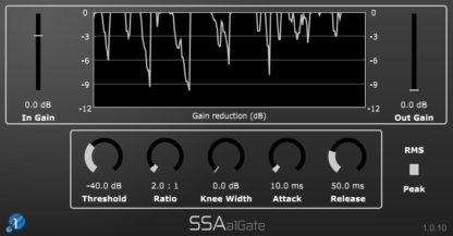 a1Gate - First order Ambisonics gate and downwards expander plugin