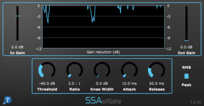 a7Gate - Seventh order Ambisonics gate and downwards expander plugin