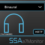a7Monitor - Seventh order Ambisonics stereo and binaural rendering plugin
