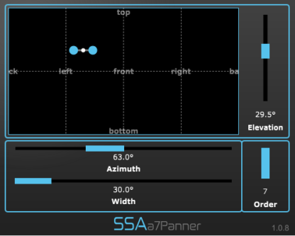 a7Panner - Seventh order Ambisonics encoder/panner plugin